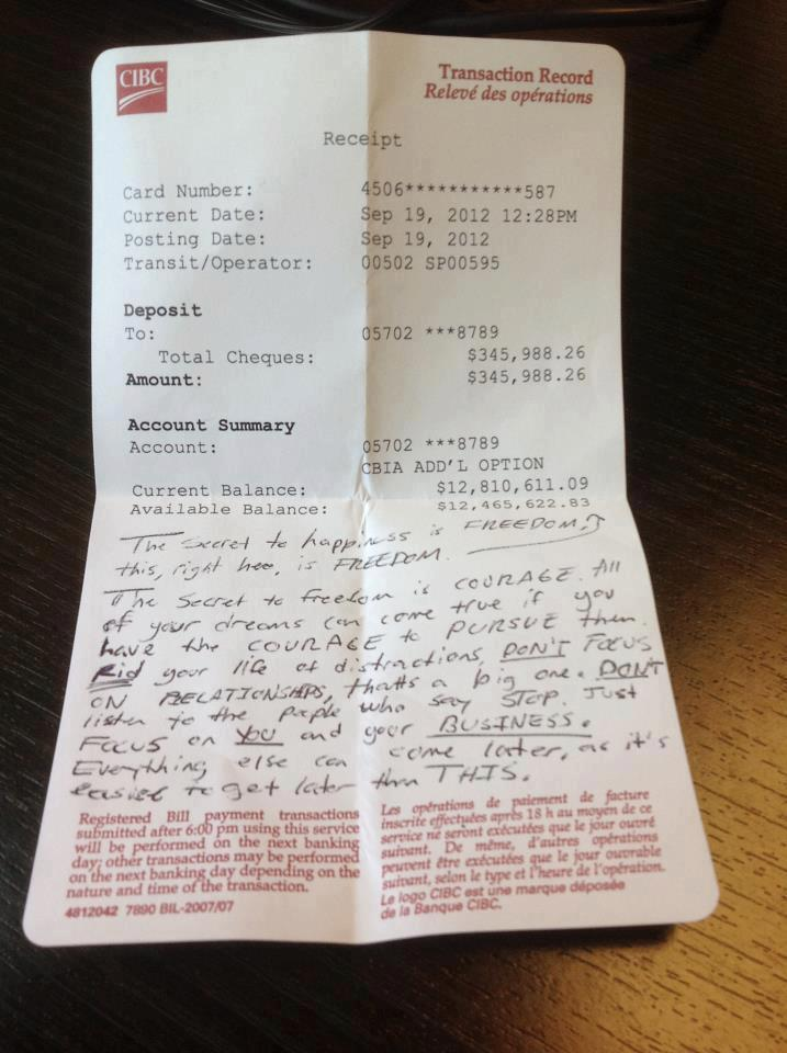 13 Million Dollar Bank Statement Found In A Cafe With A