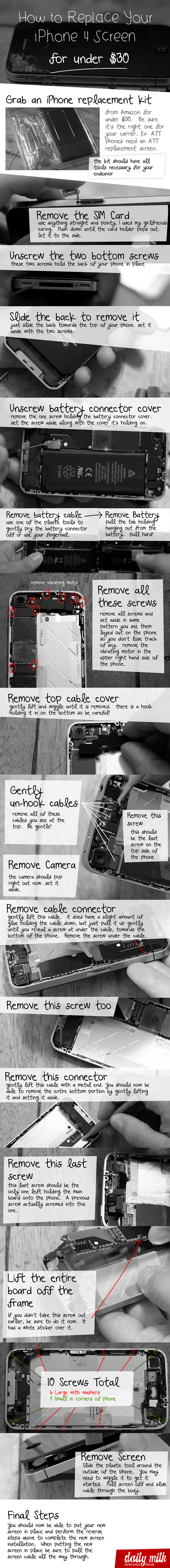 how to replace iphone 4 screen