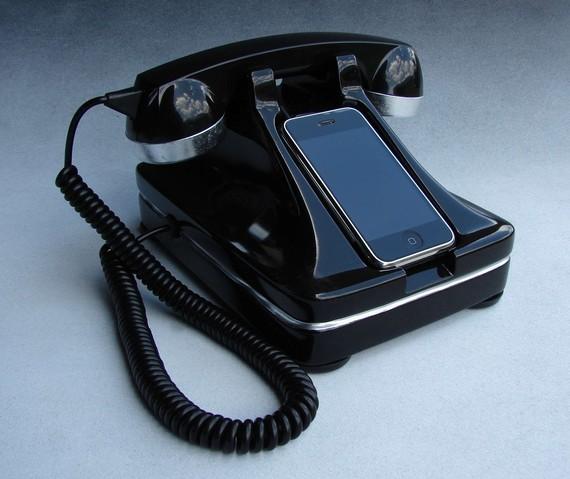retro iphone dock