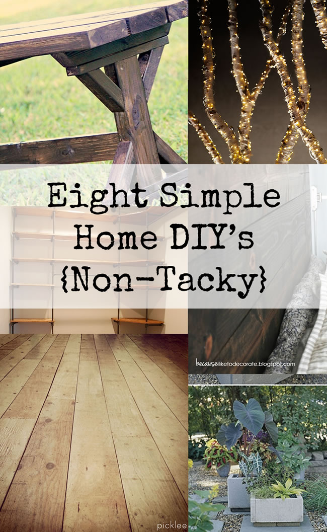 8 simple home diy projects non tacky dailymilk for Easy home improvement projects