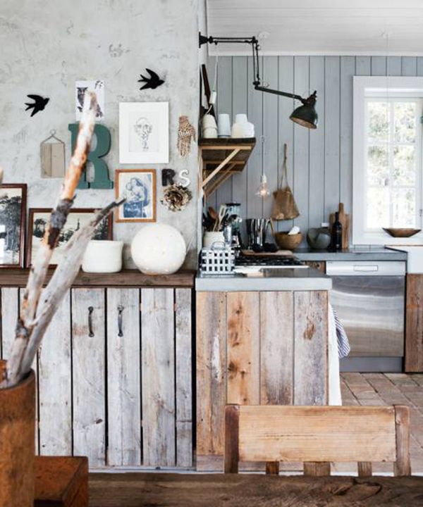 Beach cottage design inspiration dailymilk for Kitchen decor inspiration