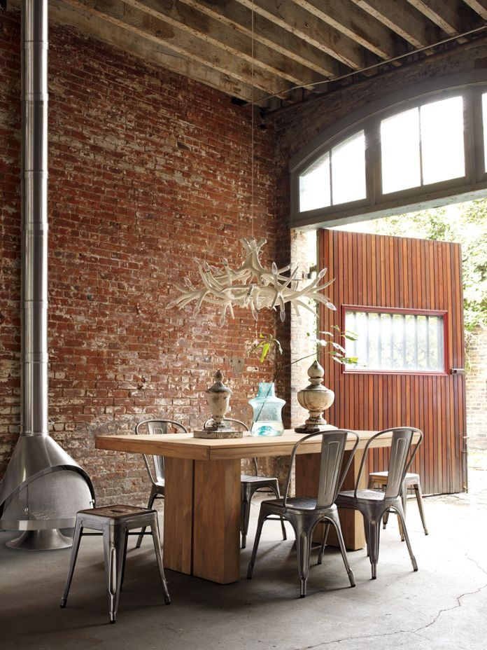 Industrial interior design inspiration dailymilk for Interior design inspiration industrial