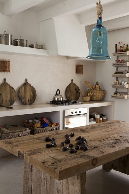 rustic-kitchen-counter