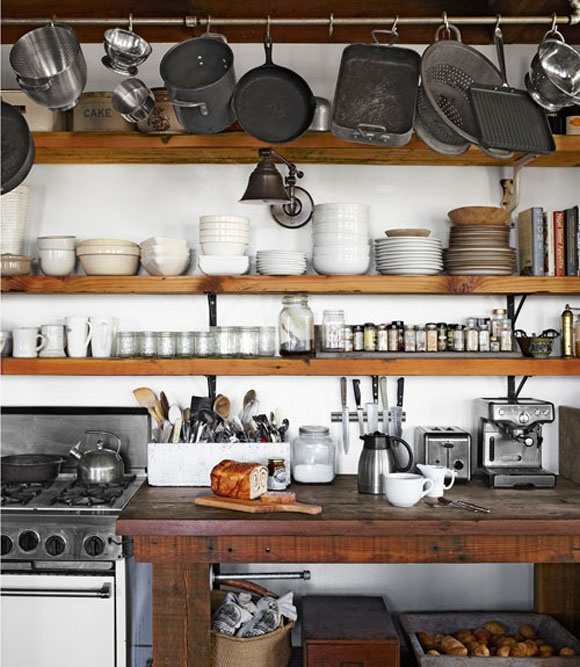 rustic-kitchen-wood-shelves