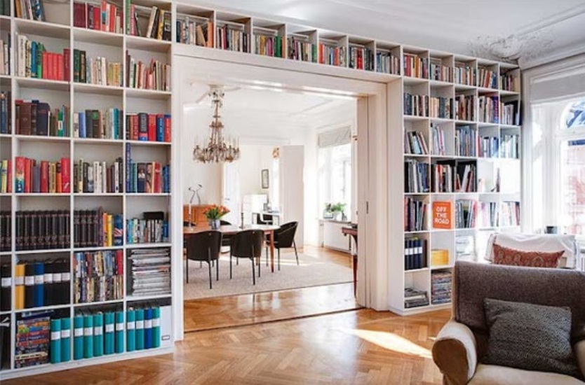Creative-Bookshelf-design-for-wall-of-home