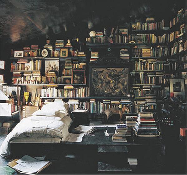 cluttered-bookshelves