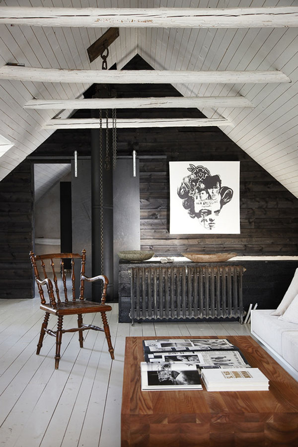 rustic-white-beams-dark-wood-walls