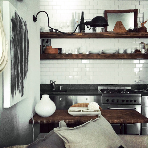 white-subway-tile-wood-shelves-kitchen