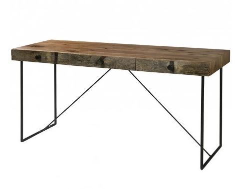 Metal and wood desks desk design ideas for Metal desk with wood top