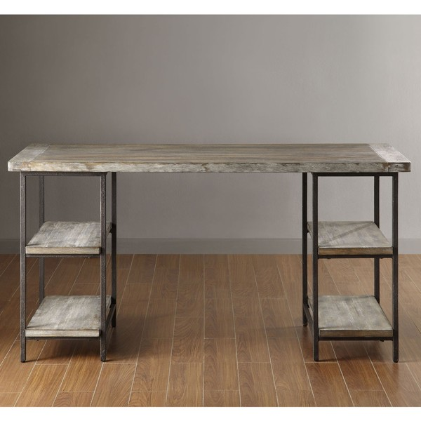 Wood and metal computer desk Rustic Renate Desk Mix Of Metal And Wood Desk Amazoncom Furniture Dailymilk