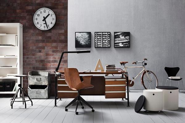 brick-accent-office-wood-plank-floor